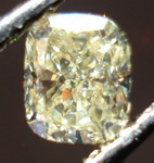 SOLD....Loose Diamond: .46ct Cushion Light Yellow VS- soft cut R3442