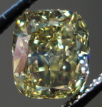 SOLD...Loose Diamond: 1.62ct Fancy Deep Brownish Greenish Yellow Unusual Color Cushion R3445