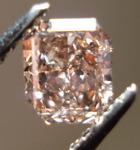 SOLD......Loose Diamond: .74ct Fancy Orange-Brown Radiant Diamond, looks pinks R3462