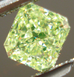 SOLD.... Loose Diamond: .44ct Fancy Yellow-Green Radiant VS2 Diamond GIA Wicked Green Color R3487