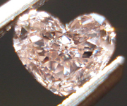 SOLD....Loose Diamond: .23t Fancy Brownish Pink Heart Shape SI2 GIA Pretty in Pink R3482
