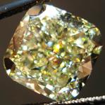SOLD....Loose Diamond: 8.29ct Fancy Yellow Cushion SI1 Diamond GIA Massive Beauty R3488