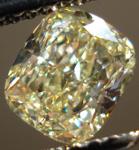 SOLD....Loose Diamond: 1.03 Y-Z Cushion VVS1 Diamond GIA Lovely Lemon Color R3499