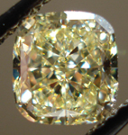 SOLD......Loose Diamond: 1.16 Fancy Light Yellow Cushion IF GIA Perfectly Stunning R3502