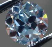 SOLD....Loose Diamond: 1.01ct Fancy Gray-BLUE GIA VS1 Round Diamond- almost an Old Mine cut R3512