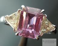 SOLD...Sapphire and Diamond Ring: Precision Cut 2.26ct Sapphire Emerald Cut Three Stone Ring R3537