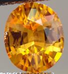 SOLD....Loose Garnet: Precision Cut 2.53ct Spessartite Garnet Oval Shape Burnt Orange Color R3543