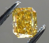 SOLD.....Loose Diamond: .58ct Radiant Cut Fancy  Deep Brownish Yellow I1 GIA Amazing Price R3589