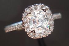 0.57ct D IF Cushion Cut Diamond Ring R3621