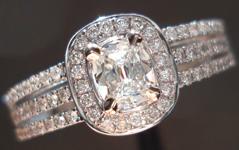 .30ct G VS1 Cushion Cut Diamond Ring R3628