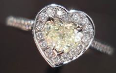 SOLD.....34ct M SI1 Heart Shape Diamond Ring R3626