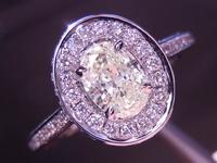SOLD....0.42ct L VS1 Oval Diamond Ring R3644