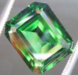 SOLD....Loose Chrome Tourmaline: 4.22ct Chrome Tourmaline Emerald Cut Truly A Rare Beauty R3658