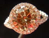 SOLD....2.00ct Brown VS1 Round Brilliant Diamond Ring R3569
