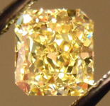 SOLD.....Loose Diamond: .73ct Radiant Cut Fancy Yellow VVS2 GIA Special Stone R3711