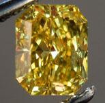 SOLD....Loose Diamond: .65ct Radiant Cut Fancy Vivid Yellow VVS1 GIA Beautiful Cut R3733
