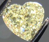 SOLD....Loose Diamond: .85ct Heart Shape Fancy Yellow VS1 GIA Perfect Heart R3798