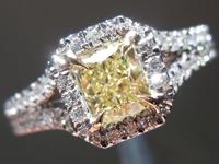 0.55ct Yellow VS2 Radiant Cut Diamond Ring R3805