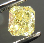 SOLD....Loose Diamond: .55ct Radiant Cut Fancy Yellow VS1 GIA Vibrant Color R3806