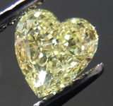SOLD...Loose Diamond: .88ct Heart Shape Fancy Yellow SI1 Full of Sparkle R3799