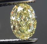 SOLD.....Loose Diamond: .74ct Oval Shape Fancy Yellow VS1 Great Cut R3802