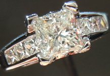 SOLD....Diamond Ring: 1.01 H/SI1 Princess Cut Platinum Cool setting GIA SPECIAL PRICE R3820
