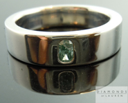 SOLD....Blue Diamond Ring: .09ct Radiant Cut Fancy Intense Bluish Green GIA OOOPS Wedding Band - Special Price R3885
