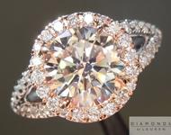 SOLD....Brown Diamond Ring: 2.05ct Round Brilliant U-V SI1 Split Shank Halo Ring R3940