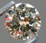 SOLD....Loose Diamond: .97ct Round Brilliant U-V, Light Brown SI1 Champagne Color R3920
