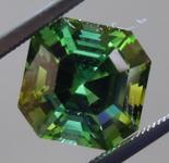 SOLD.....Loose Green Tourmaline: Precision Cut 2.89ct Green Tourmaline Asscher Cut R3892