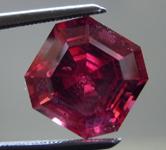 SOLD...Loose Rhodolite Garnet: Precision Cut 5.22ct Rhodolite Garnet Asscher Cut R3897