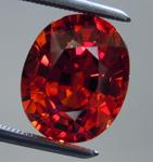 SOLD....Loose Spessartite Garnet: Precision Cut 5.20ct Spessartite Garnet Oval Shape R3901