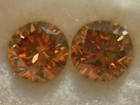SOLD....Diamond Earrings: .65ct total weight Fancy Brown Round Brilliant Stud Earrings 14K R3928