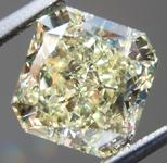 SOLD.....Loose Diamond: 2.43ct Radiant Cut Fancy Light Yellow SI1 Simply Stunning R4021