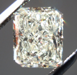 SOLD....Loose Diamond: .95ct Radiant Cut U-V, Natural Light Yellow VS1 Great Sparkle R4010