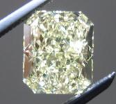 SOLD.....Loose Diamond: 1.53ct Radiant Cut Fancy Light Yellow VS2 GIA Lovely Lemon Color R4041