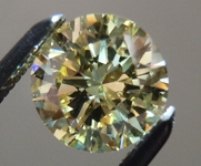 SOLD....Loose Diamond: .67ct Round Brilliant Fancy Light Yellow VVS2 GIA An Unusual Beauty R4046