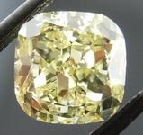 SOLD.....Loose Diamond: 1.22 Fancy Yellow VS2 Cushion GIA great shape R4018