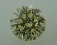 SOLD...Loose Diamond: .50ct Natural Light Yellow VVS2 Round EX cut grade GIA R4006