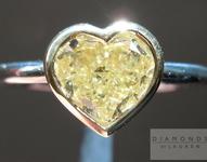 SOLD...1.15ct Yellow SI1 Heart Shape Diamond Ring R4111