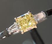 0.41ct Yellow VS1 Radiant Cut Diamond Ring R4145