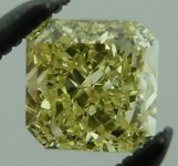 SOLD....Loose Diamond: .42ct Radiant Cut Fancy Yellow VVS1 GIA Perfection R4137