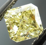 SOLD...Loose Diamond: .42ct Radiant Cut Fancy Yellow VS2 GIA Fantastic Cut and Price R4141