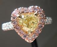 0.71ct Intense Yellow SI1 Heart Shape Diamond Ring R4151
