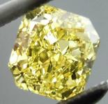 SOLD.....Loose Diamond: .70ct Radiant Cut Fancy Intense Yellow VS2 GIA Vibrant Stone R4135