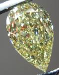 SOLD...Loose Diamond: .85ct Pear Shape Fancy Yellow VVS2 GIA Phenomenal Stone R4174