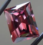 SOLD.....Loose Zircon: Precision Cut 3.60ct Brown-Pink Zircon Radiant Cut Sweet Stone R4197