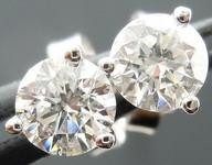 SOLD....Diamond Earrings: .62ct TW Martini Studs Spade family sparkle R4100