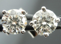 SOLD....Diamond Earrings: .52ctw Four Prong Studs Spade Family Great Cut R4094