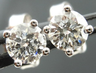 SOLD....Diamond Earrings: .40ctw Four Prong Studs Spade Family Full of Sparkle R4096